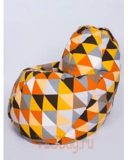 Кресло-груша (Взрослый) - Ромб Оранж