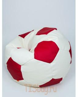 Кресло-мяч - Бело-красный